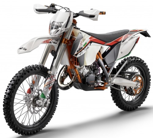 ktm exc 125 sixdays 2014 weiss. Black Bedroom Furniture Sets. Home Design Ideas