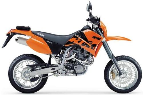 Ktm Lc4 660 Smc 2003  Orange